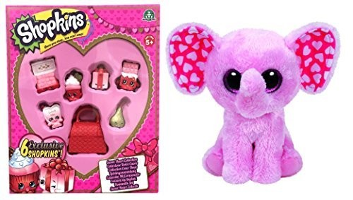 Shopkins Sweetheart Collection 6 Pack PLUS Ty Beanie Boos SUGAR Valentine  Elephant. ASIN B01MU7PXLC TAG shopkins-sweet-heart-collection ... 085e1a40bb45